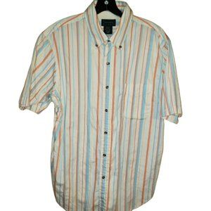 Scandia Woods Striped Button Down Shirt Large